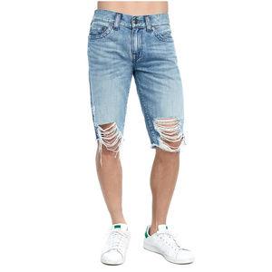True Religion Men's Cut Off Denim Jean Shorts